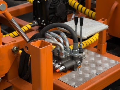 An orange hydraulic system with many fluid power advantages