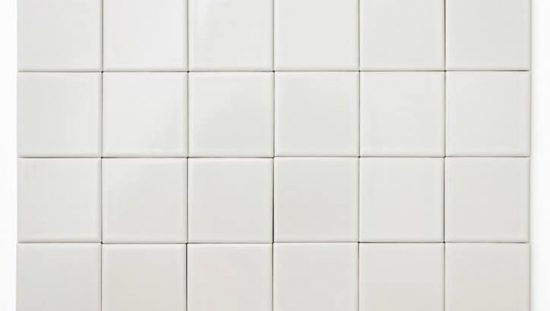 White ceramic tile that has been tested by ASTM C485-16