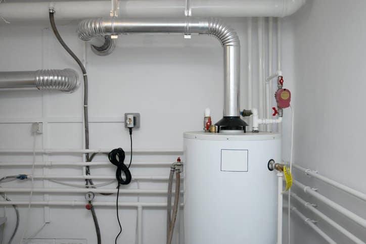 A residential boiler