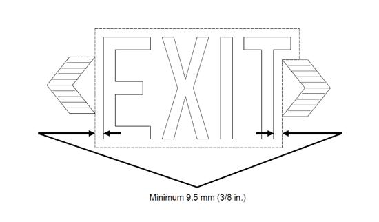 NEMA EM 1-2010 Exit Sign