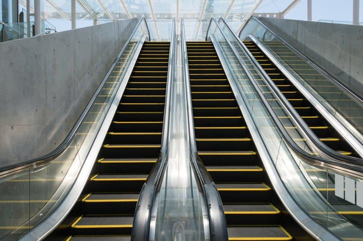 Many escalators tested to the ASME A17.1 code