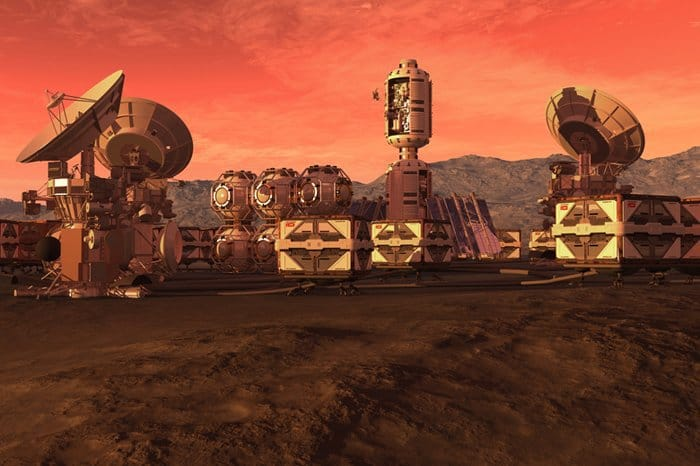 Mars after it is colonized