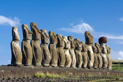 Easter Island Moai Statue Head
