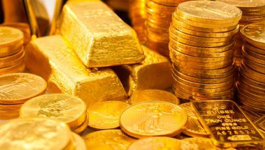 Stacks of gold indicate a scintillating precious metal in various forms.