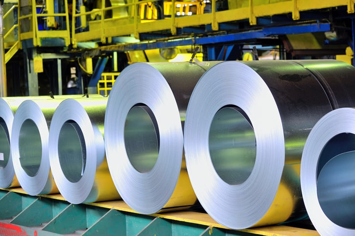Steel cylinders tested by ASTM A370-19 in factory.