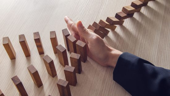 Stopping dominoes from falling in an act of ISO 31000:2018 risk management
