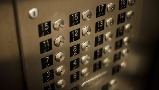 Elevator buttons with corresponding floors that are following ASME A17.1/CSA B44 HB-2016: Handbook Safety Code Elevators