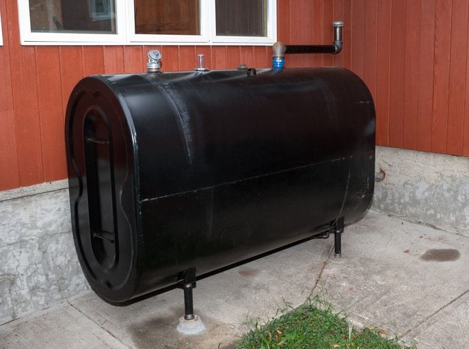 Black boiler using heating Oil Grade No. 2 under ASTM D396