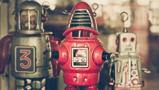 Old robot toys with a vintage filter that haven't been tested to ASTM F963 and might not be safe.