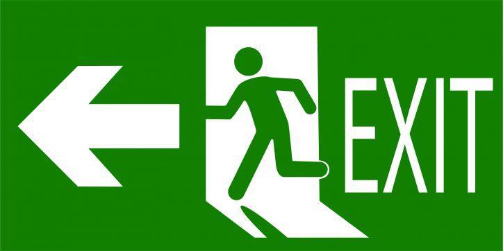 Standard exit sign