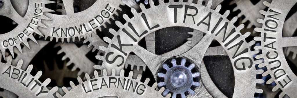 Gears of knowledge show the difference in training between ANSI ASSP Z490.1 and Z490.2