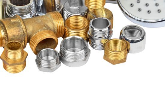 Gold and chrome plumbing supply fillings through ASME A112.18.1-2018