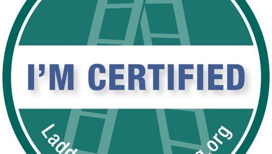 I'm Certified Ladder Safety Ambassador badge