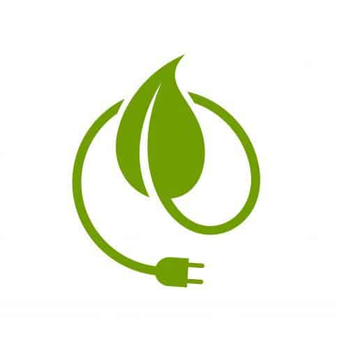 Clean energy graphic, a symbol of ISO 50001