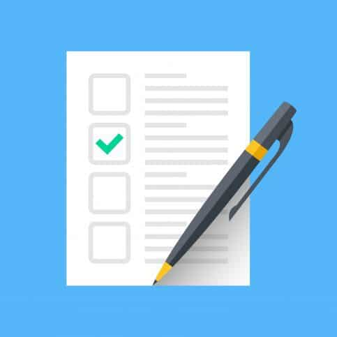 Checklist of task to ensure compliance with ASTM E140-12B(2019)e1