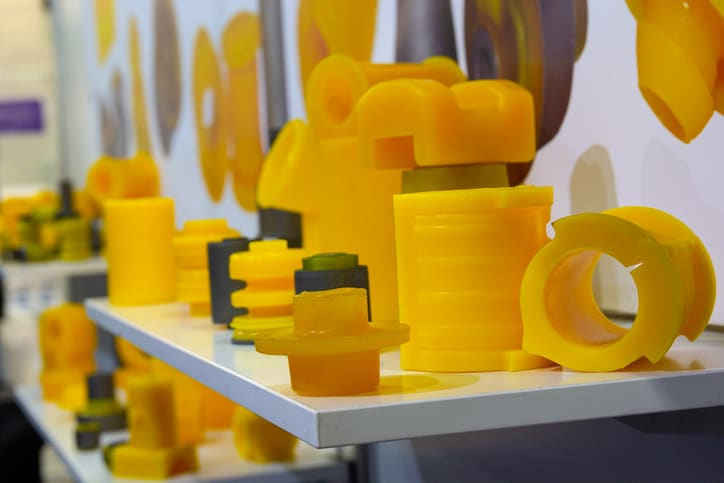 Chunky yellow plastics tested to ISO 1183-1:2019 for density