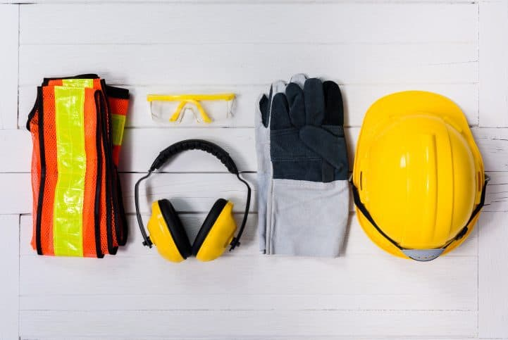 Safety equipment for construction workers, which includes those outlined in ASSE ANSI Z359 Fall Protection standards
