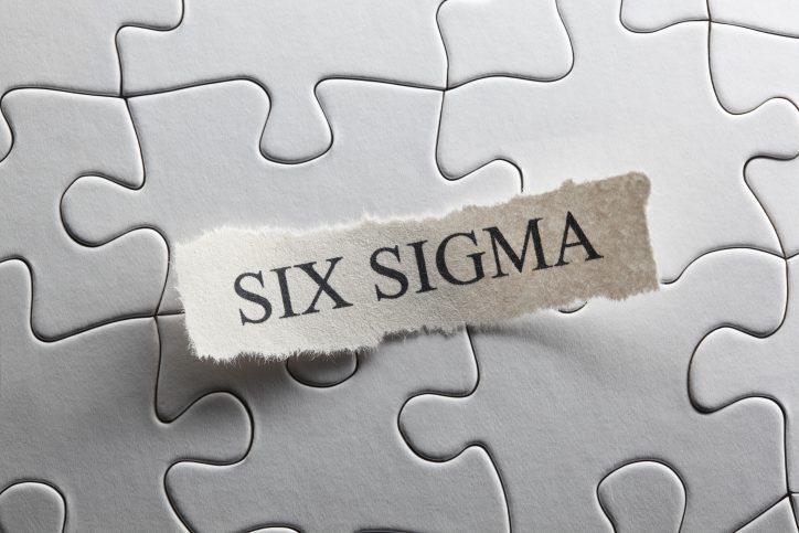 Six Sigma written on paper
