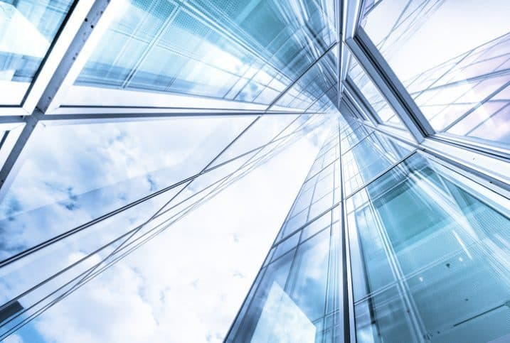 Looking to the sky in an office building for innovation management