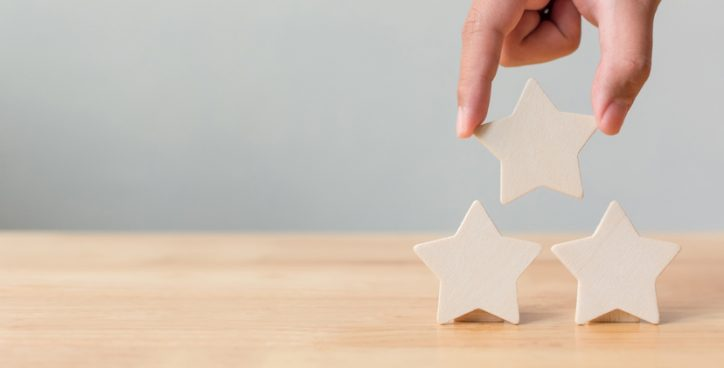 Three stacked stars represent the quality personnel certification programs that receive ANSI/ISO/IEC 17024 accreditation.