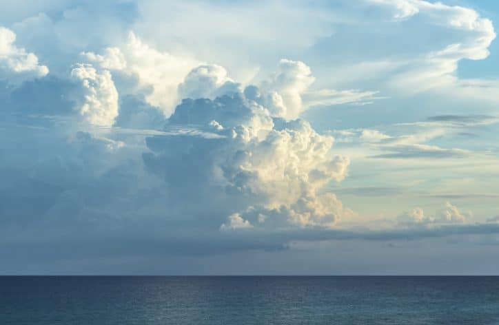 A storm comes over the clouds and represents ISO 22301:2019 for business continuity management systems