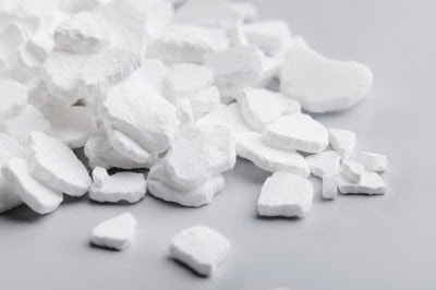 White calcium chloride, the desiccant for the ASTM E96 test