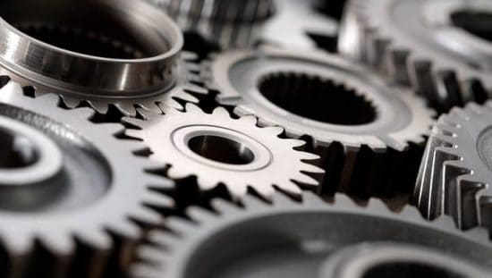 Metallic gears twisting with a brinell hardness found in ASTM E10