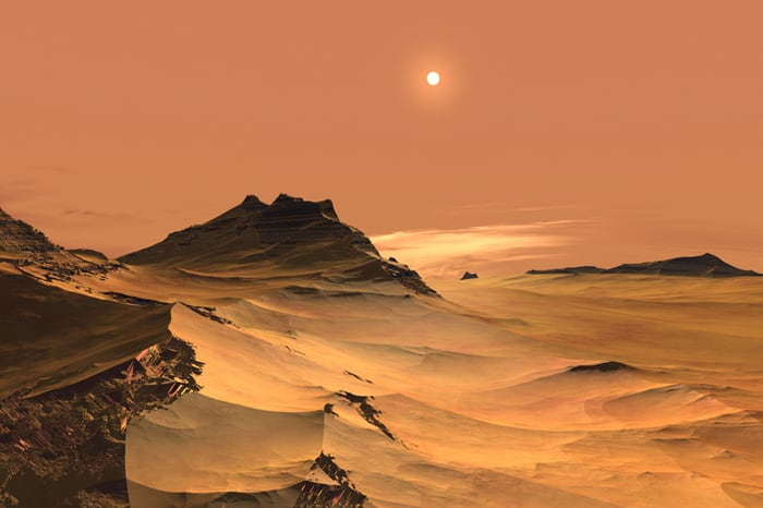 Colonizing Mars in the red planet's desert