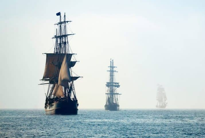 Old pirate ships traversing the sea, carrying rats with them throughout the globe.
