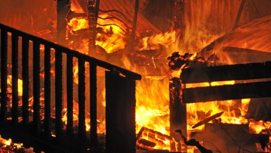House burning in might bright conflagration and in need of 2018 International Fire Code (IFC) guidance and commentary.