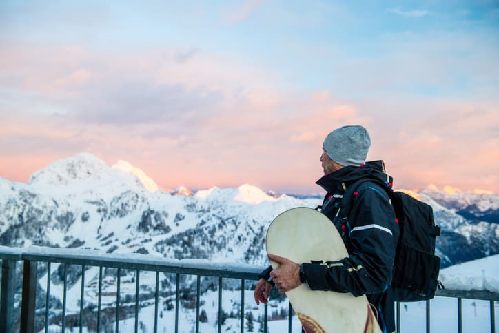 Former freestyle snowboarder overlooks sunset for backcountry action following the decline in attendance and participation.