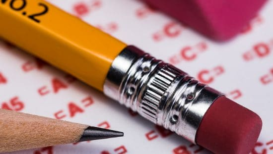 Pencil over test used to determine a passing score in accordance with a criterion referenced assessment (CRA) study.