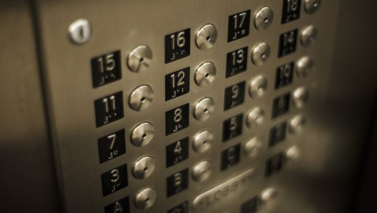 Elevator buttons with corresponding floors that are following ASME A17.1/CSA B44 HB-2019: Handbook Safety Code Elevators