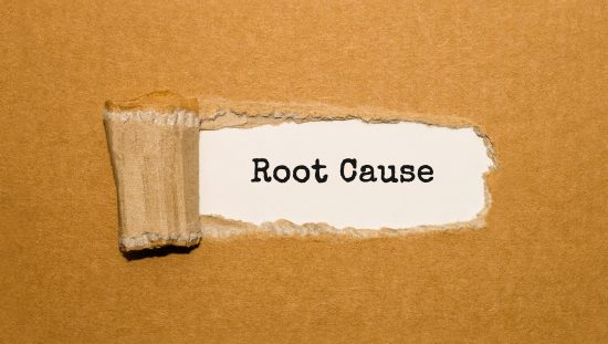 A root cause behind torn brown paper uncovered through RCA analysis to remove nonconformities for accreditation.